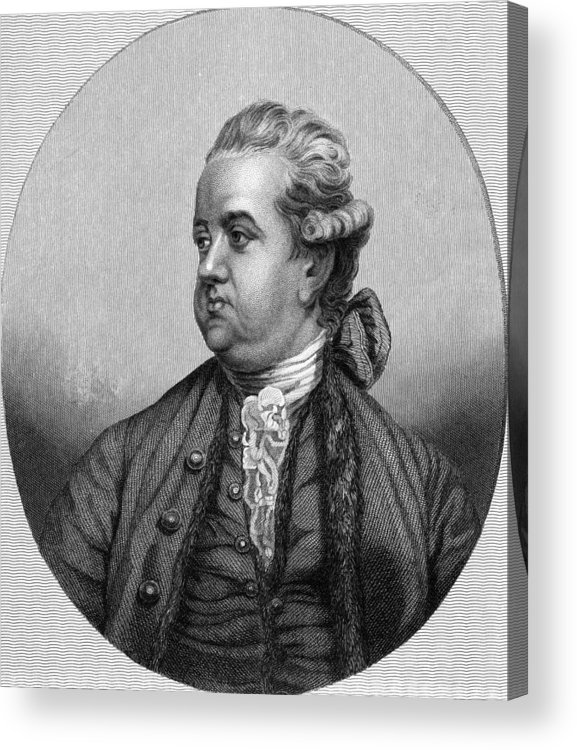 1700s Acrylic Print featuring the photograph Edward Gibbon, English Historian by Middle Temple Library