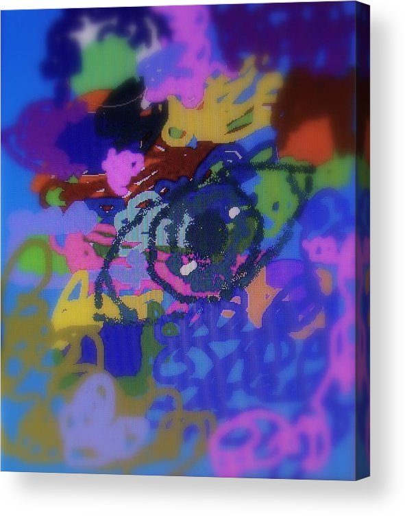 Abstract Acrylic Print featuring the digital art Eye by Cybele Chaves
