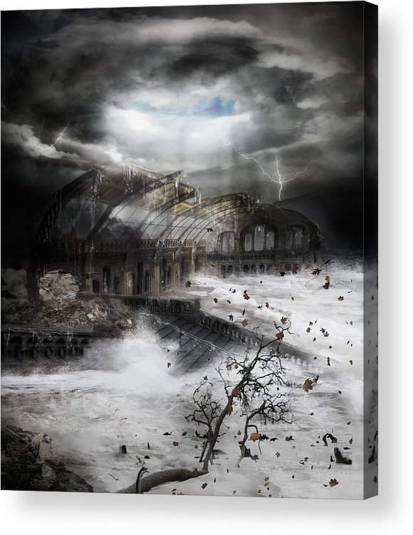 Hurricane Acrylic Print featuring the digital art Eye Of The Storm by Mary Hood