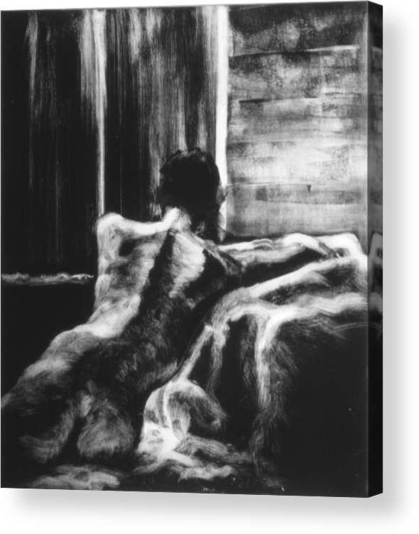 Female Acrylic Print featuring the painting Female II by John Clum