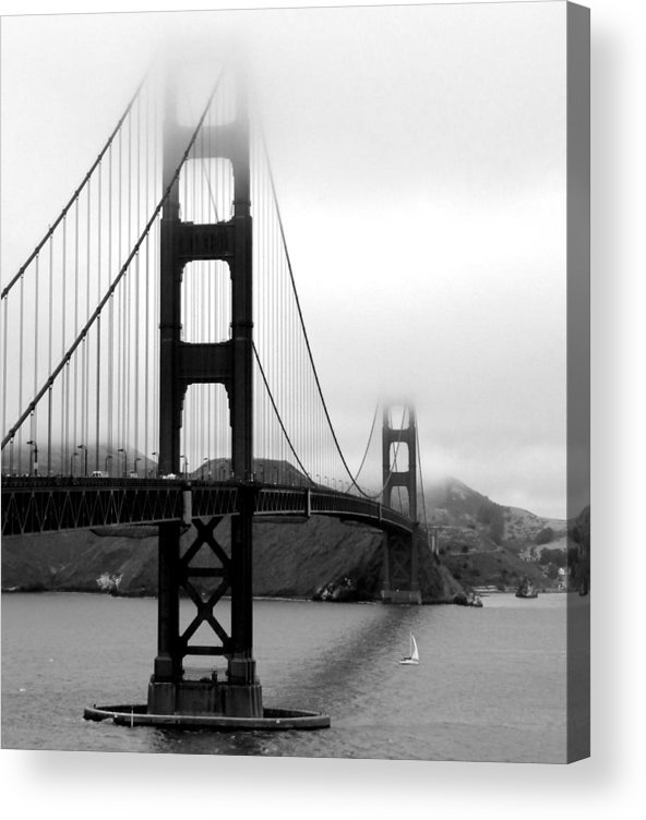 Vertical Acrylic Print featuring the photograph Golden Gate Bridge by Federica Gentile