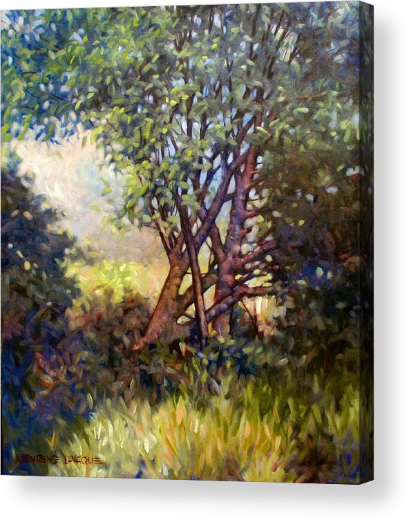 Landscape Acrylic Print featuring the painting Grateful Mulberry by Kevin Lawrence Leveque