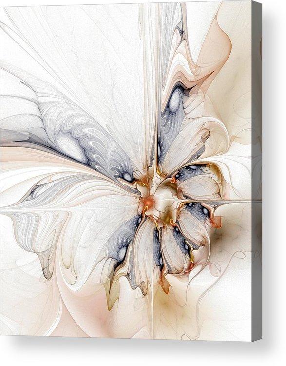 Digital Art Acrylic Print featuring the digital art Iris by Amanda Moore