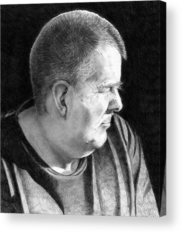 Pencil Acrylic Print featuring the drawing John by Joyce Geleynse