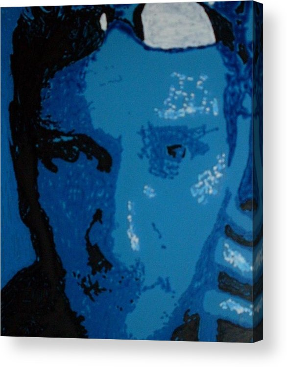 Alice In Chains Acrylic Print featuring the painting Layne by Grant Van Driest