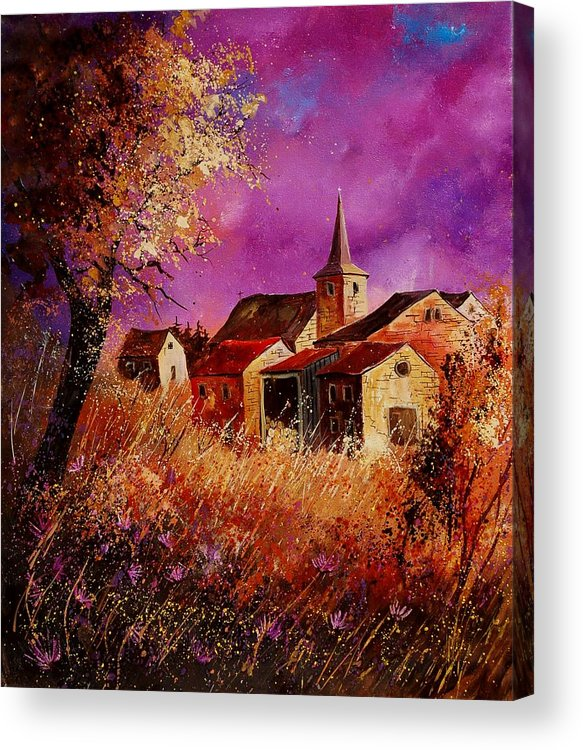 Landscape Acrylic Print featuring the painting Magic Autumn by Pol Ledent