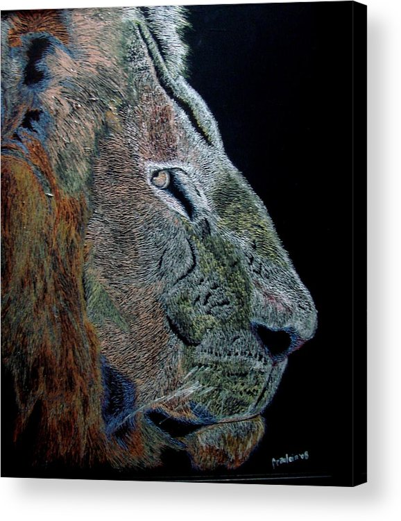 Animals Acrylic Print featuring the painting Misunderstood by Glory Fraulein Wolfe