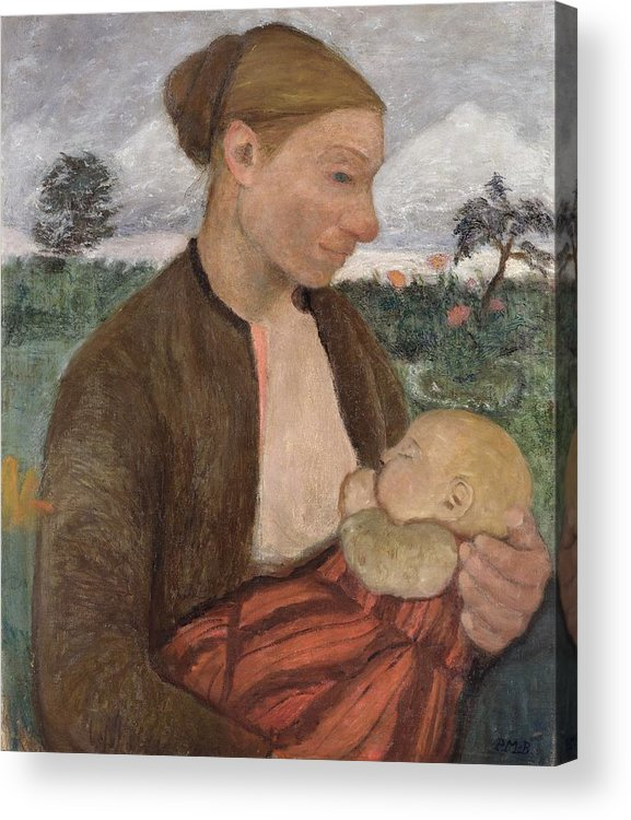 Mother Acrylic Print featuring the painting Mother And Child by Paula Modersohn Becker