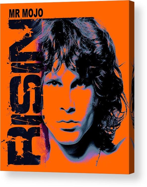The Doors Acrylic Print featuring the digital art Mr Mojo Risin by Mal Bray