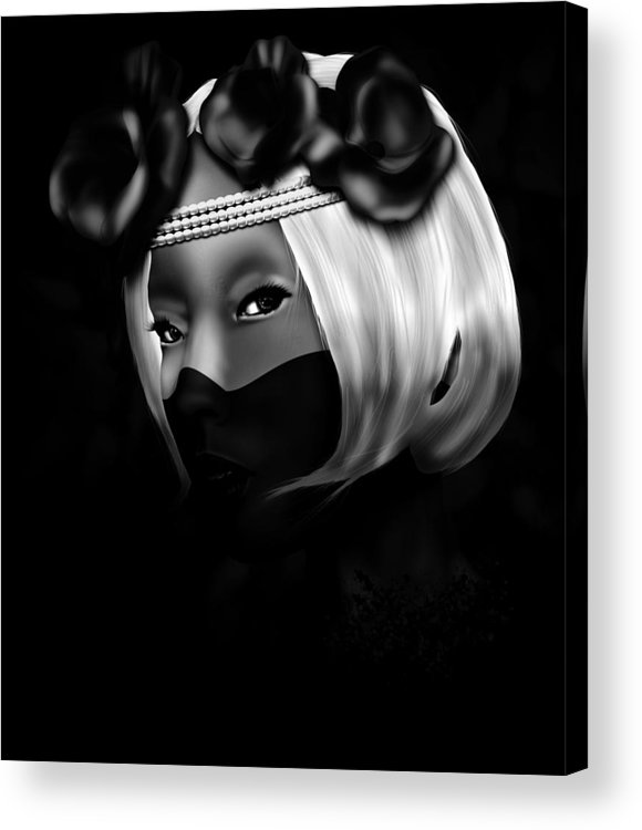 Digital Acrylic Print featuring the digital art On The Lips Of Poise by D Scott Richardson
