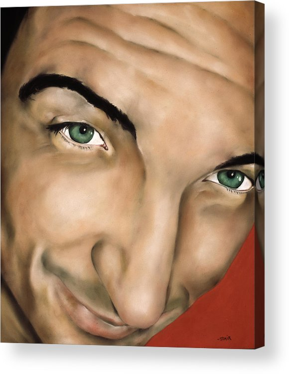Pastel Acrylic Print featuring the pastel Pete In Perspective by Greg Stair