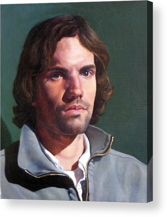 Portrait Acrylic Print featuring the painting Toby by Deborah Allison