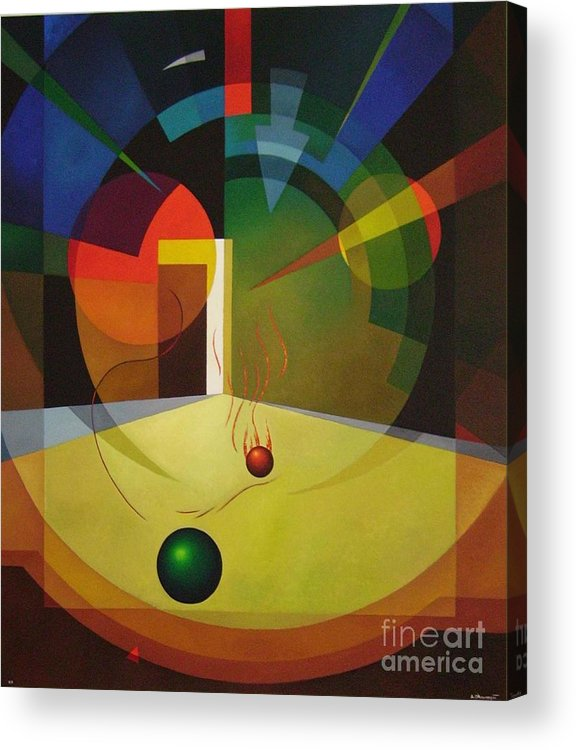 Abstract Acrylic Print featuring the painting Unexpected Show by Alberto DAssumpcao