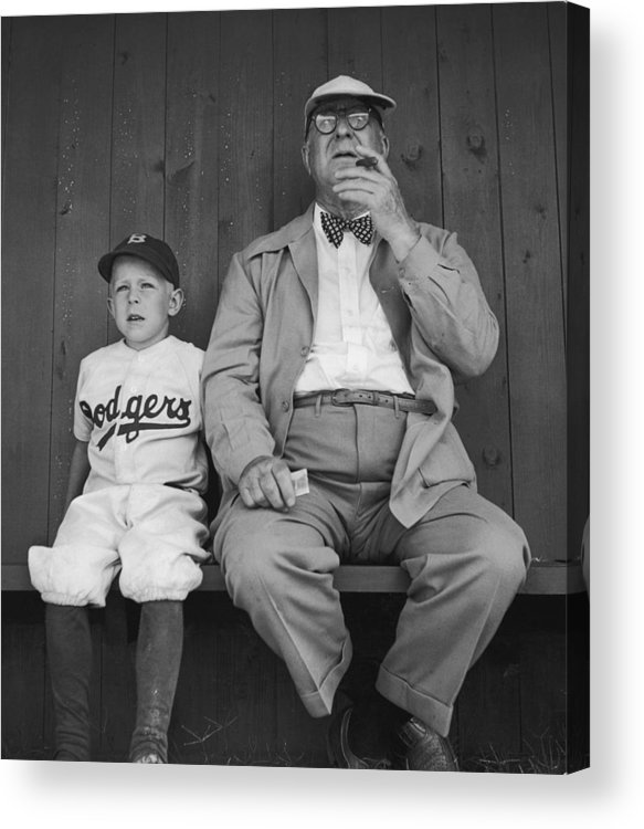 Timeincown Acrylic Print featuring the photograph Branch Rickey & Family by George Silk