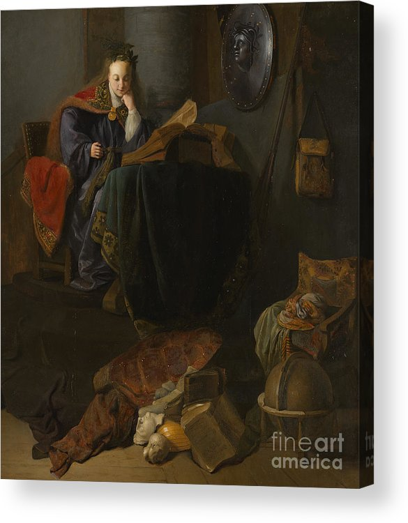 Rembrandt Acrylic Print featuring the painting Minerva, 1630 by Rembrandt