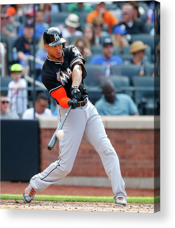 People Acrylic Print featuring the photograph Giancarlo Stanton by Jim Mcisaac