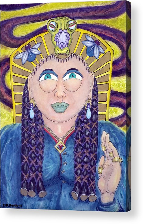 Princess Acrylic Print featuring the painting EGE by Eddie Sargent