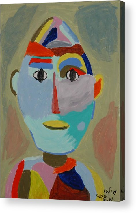 Caricaure Acrylic Print featuring the painting Face by Harris Gulko