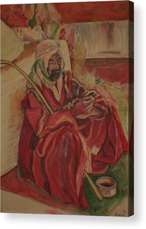 Acrylic Print featuring the painting Prayer At Benghazi by Biagio Civale
