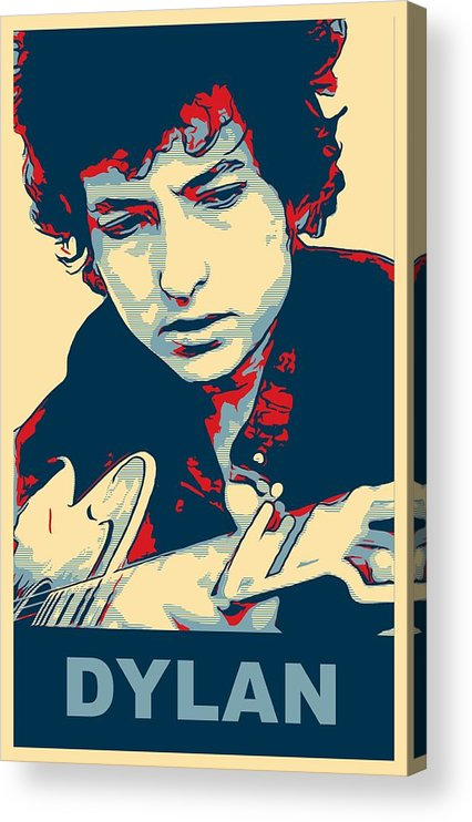 Bob Dylan Acrylic Print featuring the mixed media Dylan by Dan Sproul