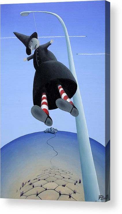 Acrylic Print featuring the painting High Five by Poul Costinsky