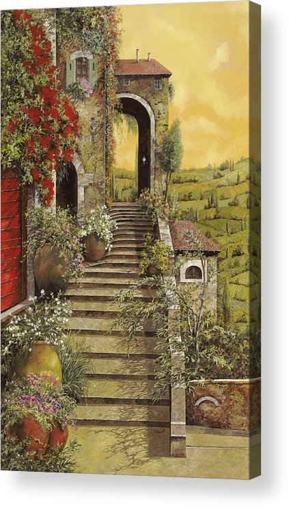Arch Acrylic Print featuring the painting La Scala Grande by Guido Borelli
