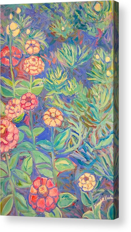 Flowers Acrylic Print featuring the painting Radford Library Butterfly Garden by Kendall Kessler