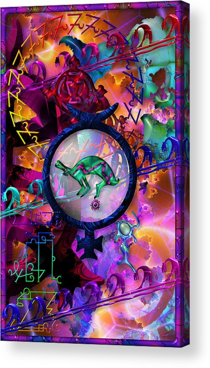 Symagery Acrylic Print featuring the digital art Symagery 23 by Kenneth Armand Johnson