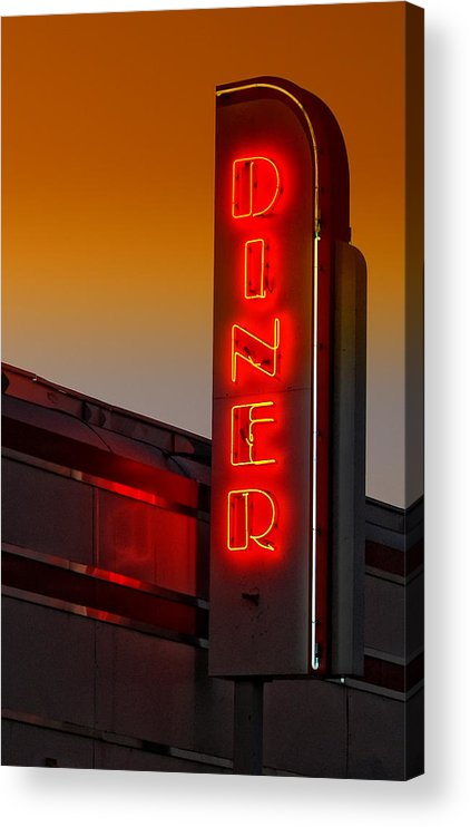 Diner Acrylic Print featuring the photograph Twilight Diner by Brian Mollenkopf