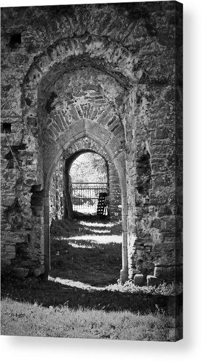 Irish Acrylic Print featuring the photograph Doors at Ballybeg Priory in Buttevant Ireland by Teresa Mucha
