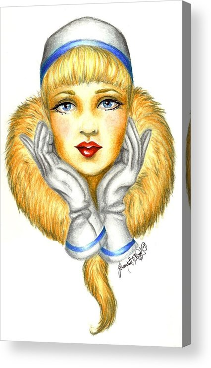 Classic Acrylic Print featuring the drawing Sarah by Scarlett Royal
