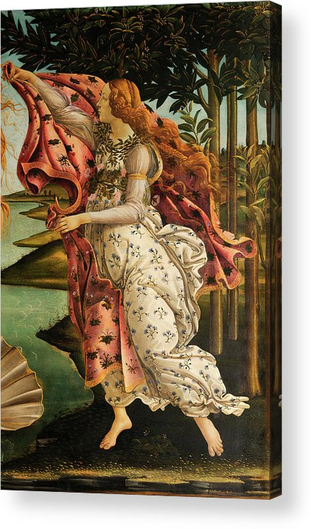 The Hora Of Spring Acrylic Print featuring the painting The Hora Of Spring by Sandro Botticelli