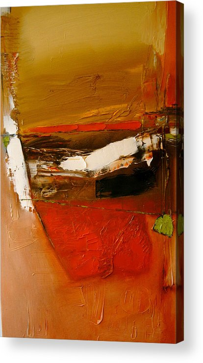 Abstract Acrylic Print featuring the painting Yellow Ochre In A Rage by Stefan Fiedorowicz