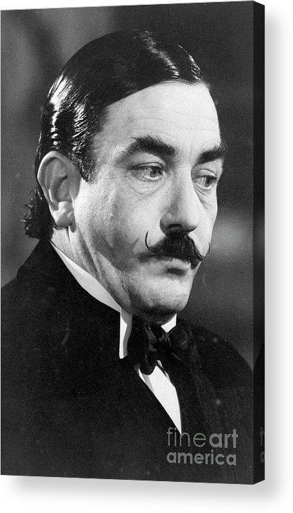 People Acrylic Print featuring the photograph Albert Finney As Hercule Poirot by Bettmann