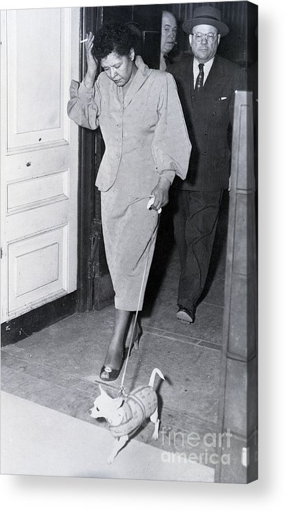 Pets Acrylic Print featuring the photograph Billie Holiday Leaving Police Station by Bettmann