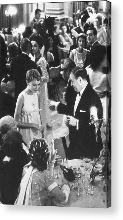 Recreational Pursuit Acrylic Print featuring the photograph Farrow & Sorenson At Black & White Ball by Fred W. McDarrah