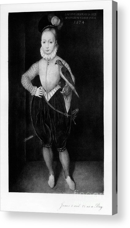 Engraving Acrylic Print featuring the drawing James I As A Boy, 1907 by Print Collector