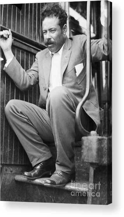 People Acrylic Print featuring the photograph Pancho Villa On Train Step by Bettmann