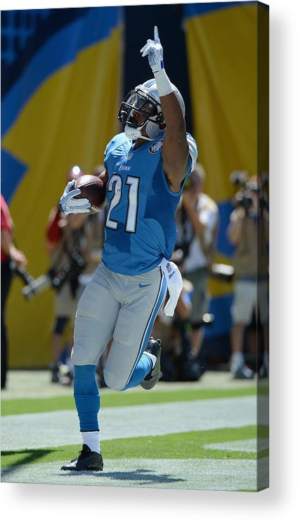 People Acrylic Print featuring the photograph Detroit Lions v San Diego Chargers by Donald Miralle
