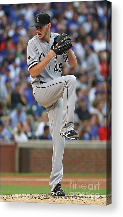 People Acrylic Print featuring the photograph Chris Sale by Jonathan Daniel