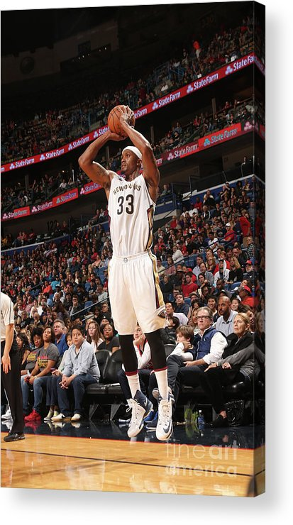 Smoothie King Center Acrylic Print featuring the photograph Dante Cunningham by Layne Murdoch