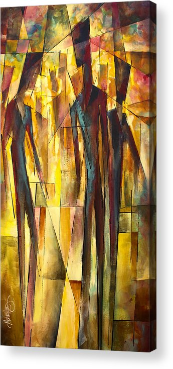 Figurative Acrylic Print featuring the painting ' Untitled ' by Michael Lang