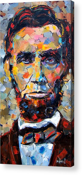 President Acrylic Print featuring the painting Abraham Lincoln portrait by Debra Hurd