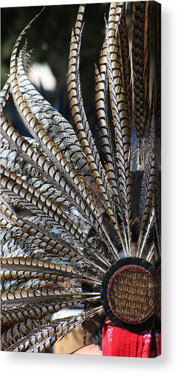 Swan Acrylic Print featuring the photograph Aztec Danza 2 by LoungeMode Productions