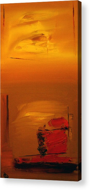 Abstract Acrylic Print featuring the painting Contrasting Views by Stefan Fiedorowicz