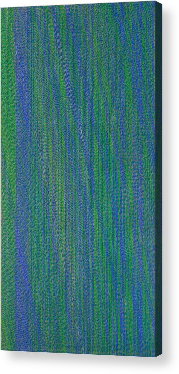 Green Blue Abstract Pattern Acrylic Print featuring the painting GrBl79 by Joan De Bot
