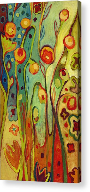 Floral Acrylic Print featuring the painting Where Does Your Garden Grow by Jennifer Lommers