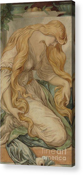 Mary Magdalene Acrylic Print featuring the painting Mary Magdalene, 1879 by Frederic James Shields
