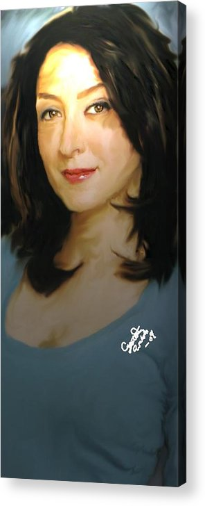 Ncis Acrylic Print featuring the painting Ncis kate by Crystal Webb