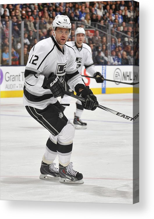 National Hockey League Acrylic Print featuring the photograph Los Angeles Kings V Toronto Maple Leafs by Graig Abel